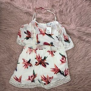 flower pattern romper